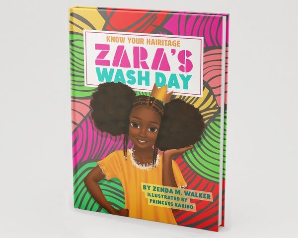 Book Design: Zara's Wash Day