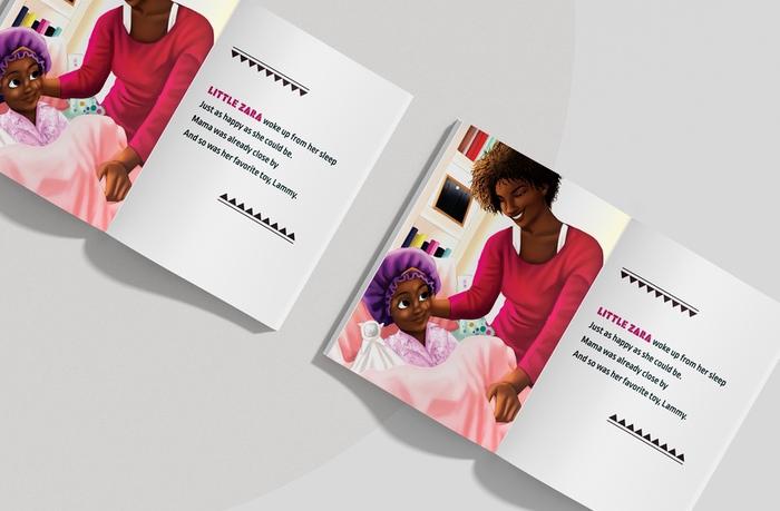Zara's Wash Day Interior Page Mockup Image